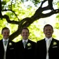 Jonny and his groomsmen enjoying a bit of quite time before the ceremomy